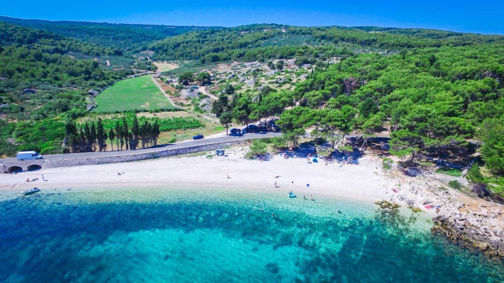 Beaches on the island of Brac