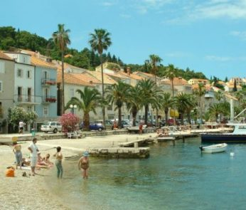 Beaches on the island of Korcula