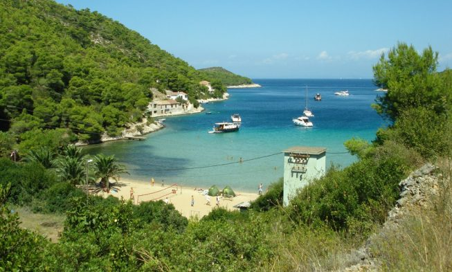 Beaches on the island of Vis