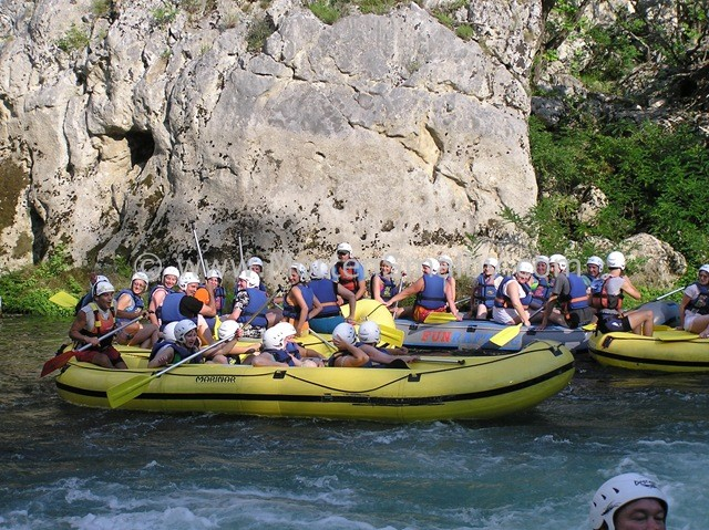 Rafting on the river Cetina